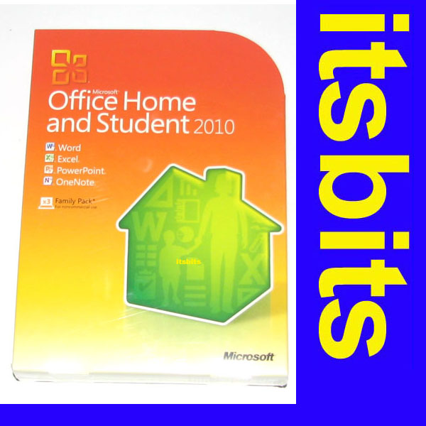 microsoft office 2010 home and student family pack 3 pc ebay. Black Bedroom Furniture Sets. Home Design Ideas